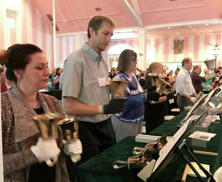 Midland-area ringersattendthe Handbell Musicians of America Area 5 Spring Festival on April 27-28 at the Grand Hotel, Mackinac Island.(Photo provided)