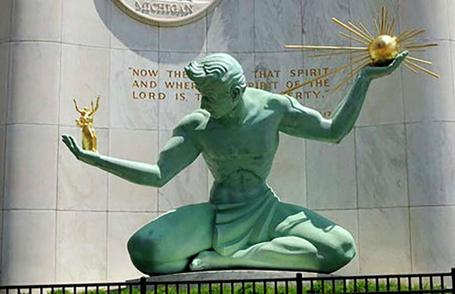 The Spirit of Detroit, the iconic sculpture dedicated in 1958 is in front of the Coleman A. Young Municipal Center in downtown Detroit. (Photo provided)