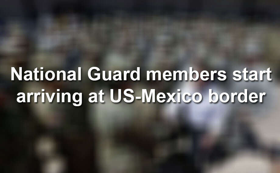 Arizona National Guard soldiers begin deployment to the Mexico border. Photo: Laredo Morning Times