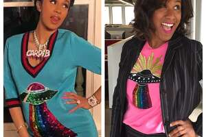 Cardi B. and Chronicle's Joy Sewing channeling Gucci style.