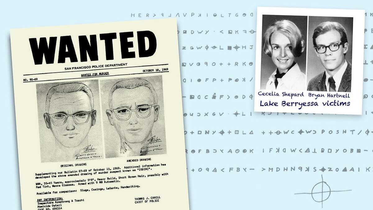 The Zodiac Killer was never caught. He is known to have attacked seven victims, killing five, in Benicia, Vallejo, Lake Berryessa and San Francisco. Two people survived, and the Zodiac claimed responsibility for many more deaths in letters, often signed with a symbol of a cross over a circle. (Sacramento Bee photo illustration)