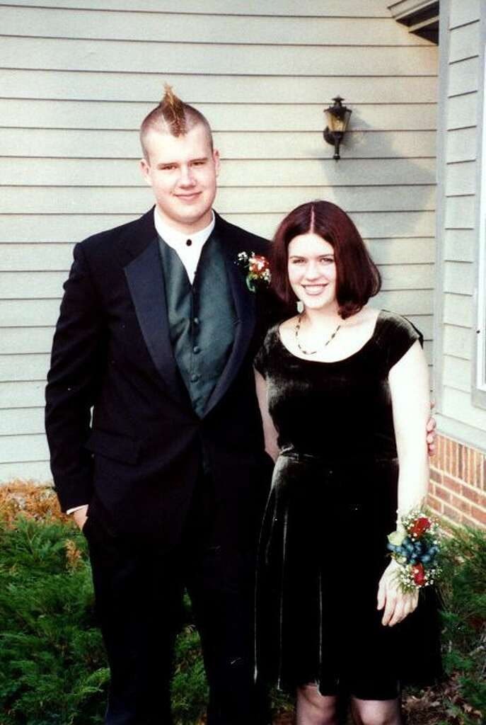 1996: Velvet Fabrics Velvet dresses were trendy in the '90s grunge culture, and while it might seem like an unexpected fabric choice for a prom dress now, in '96 it was so popular. Take, for instance, this girl's black velvet skater dress. Photo: Flickr/Jim Covert