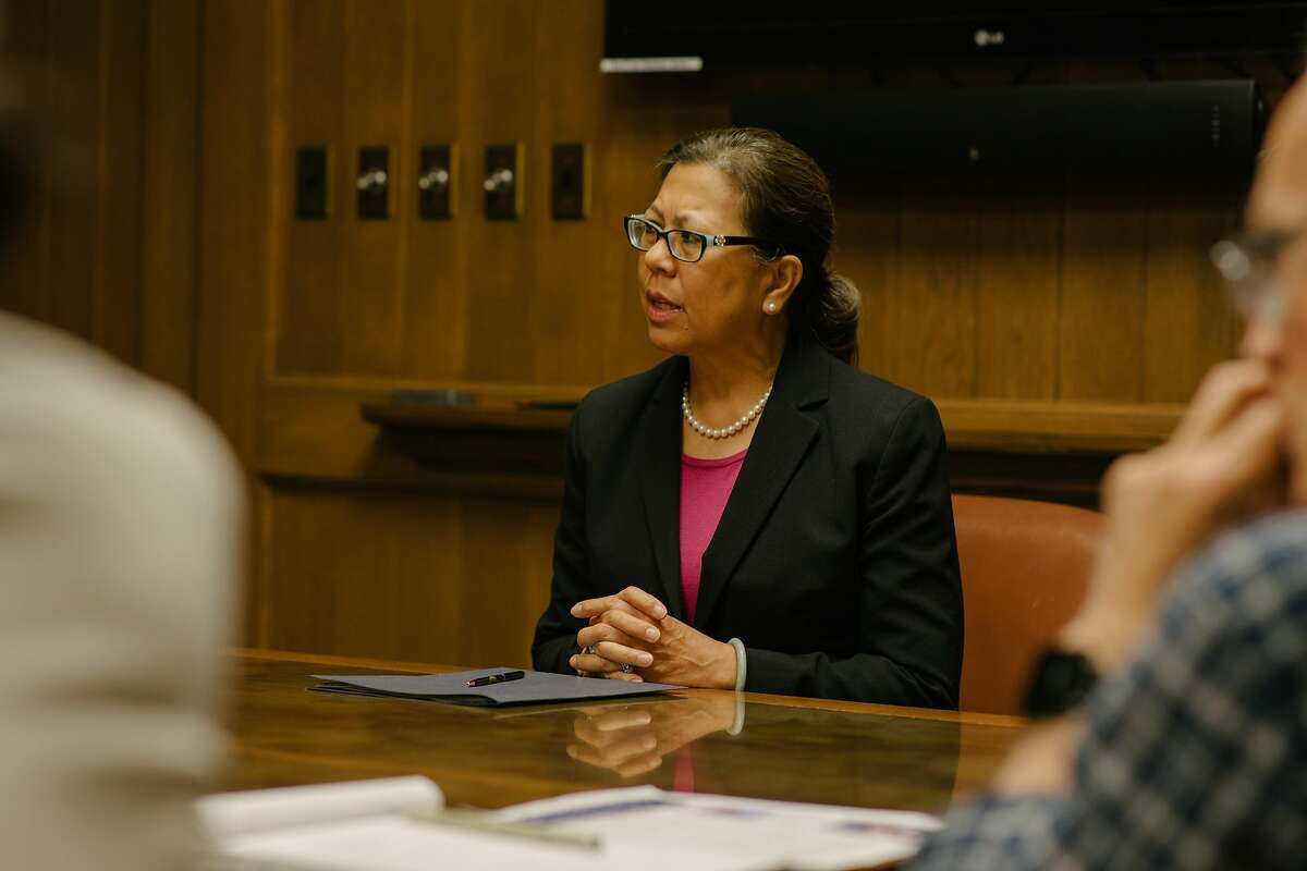 Betty Yee, candidate for State Controller, in a meeting with the Editorial Board at the San Francisco Chronicle offices on May 1st, 2018.