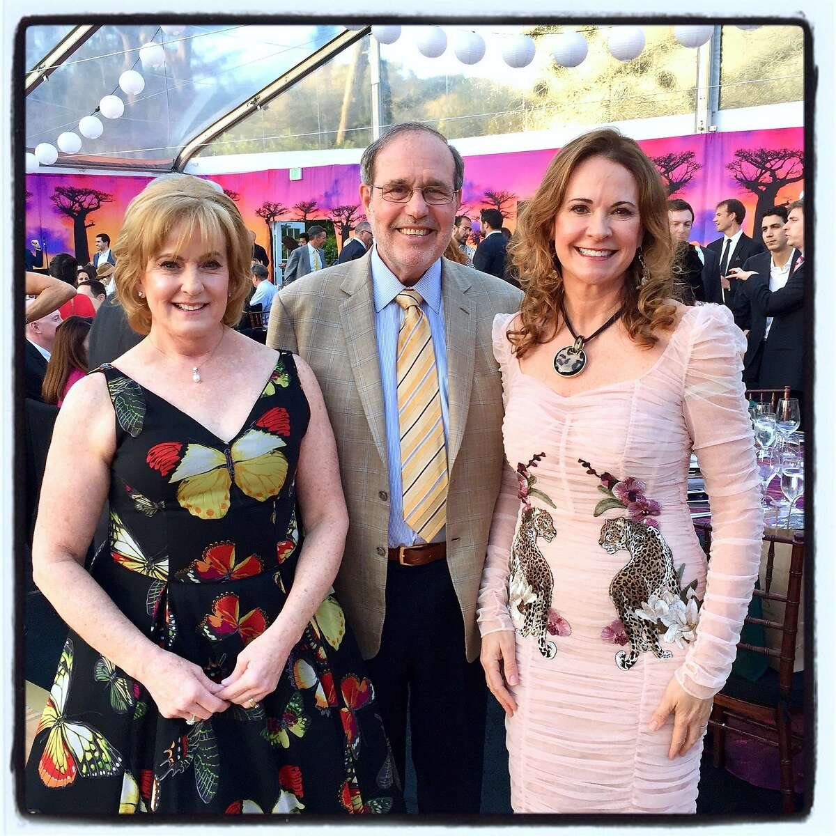 Philanthropists Marie and Barry Lipman (left) were honored by SF Zoo Director Tanya Peterson at ZooFest. April 27, 2018.