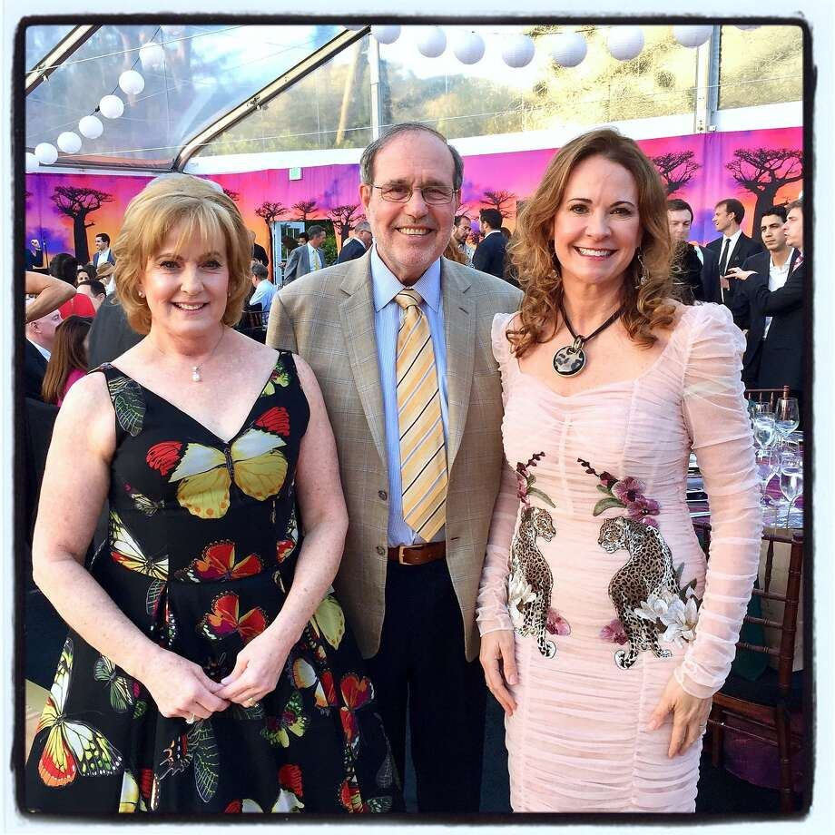 Philanthropists Marie and Barry Lipman (left) were honored by SF Zoo Director Tanya Peterson at ZooFest on April 27, 2018. Photo: Catherine Bigelow / Special To The Chronicle