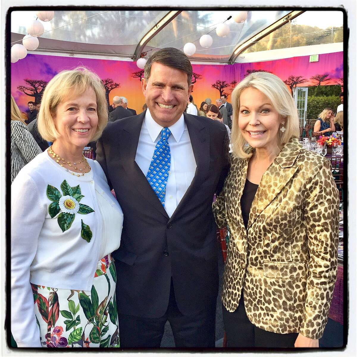 Lynn Poole (left) with her husband, SF Zoo Board chairman Ed Poole and Lisa Lenzo at ZooFest. April 27, 2018.