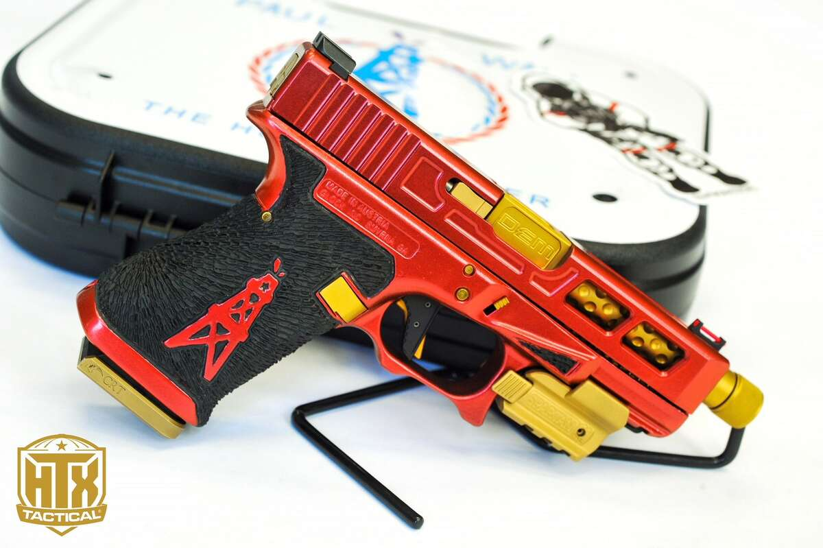 Houston gun aficionados HTX Tactical Firearms have customized a Glock 17 with Rockets branding for rapper Paul Wall.