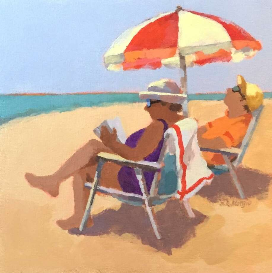 "SUNNY 8x8: ""Midday"" by Sharob Morgio of West Haven is part of the second annual show of 8x8 paintings at Maple and Main Gallery in the Stone Gallery that will run through May 31. (Each painting sells for $200.) Maple and Main, at 1 Maple St., Chester, is open Thursday and Sunday, 11 a.m. to 5 p.m. and Friday and Saturday, 11 a.m. to 6 p.m Photo: Maple And Main / Contributed Photo"