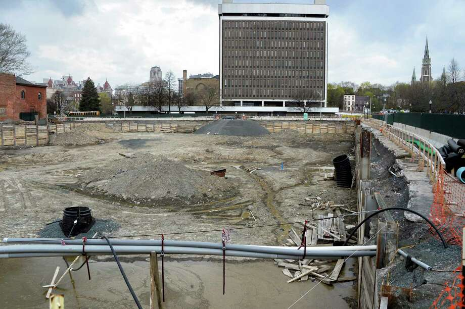 Hotel apartment project appears stalled in downtown for Plaza motors albany ny