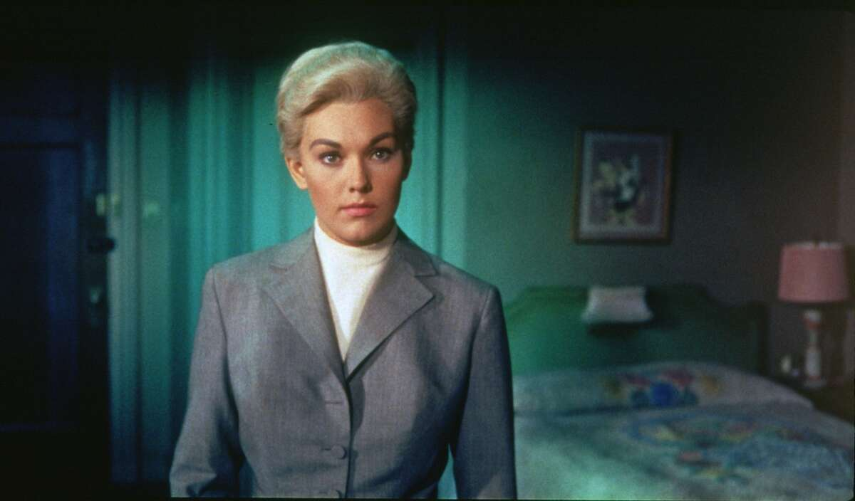 """This image released by Universal Studios shows actress Kim Novak in a scene from """"Vertigo."""" On Sunday, as part of the TCM Big Screen Classics series, """"Vertigo"""" will be back in theaters with an encore on Wednesday, March 21. (Universal Studios via AP)"""
