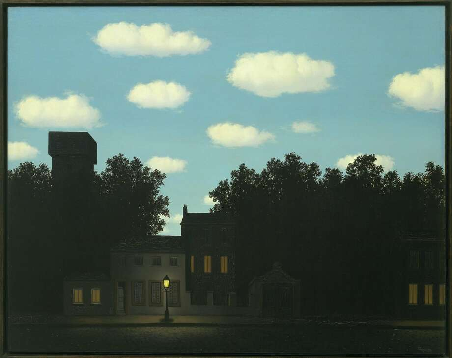 "René Magritte, ""The Dominion of Light,"" 1950; The Museum of Modern Art, New York, gift of D. and J. de Menil. Photo: Charly Herscovici, Brussels / Artists Rights Society, New York"