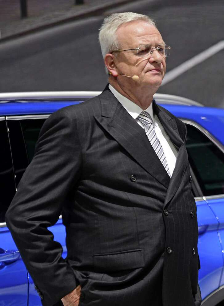 File photo of Volkswagen's former CEO Martin Winterkorn. Winterkorn, who stepped down from his role as CEO days after the scandal was revealed, was indicted for conspiring to defraud the U.S. and to violate the Clean Air Act. The charges were filed under seal in Detroit on March 14.