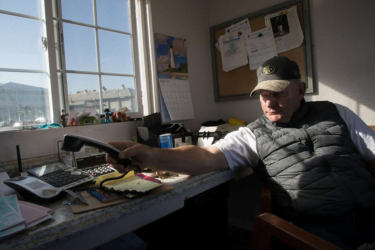 Roger Whitney in his office of Bay Fresh Seafoods on Thursday, May 2, 2018 in Moss Landing, CA.