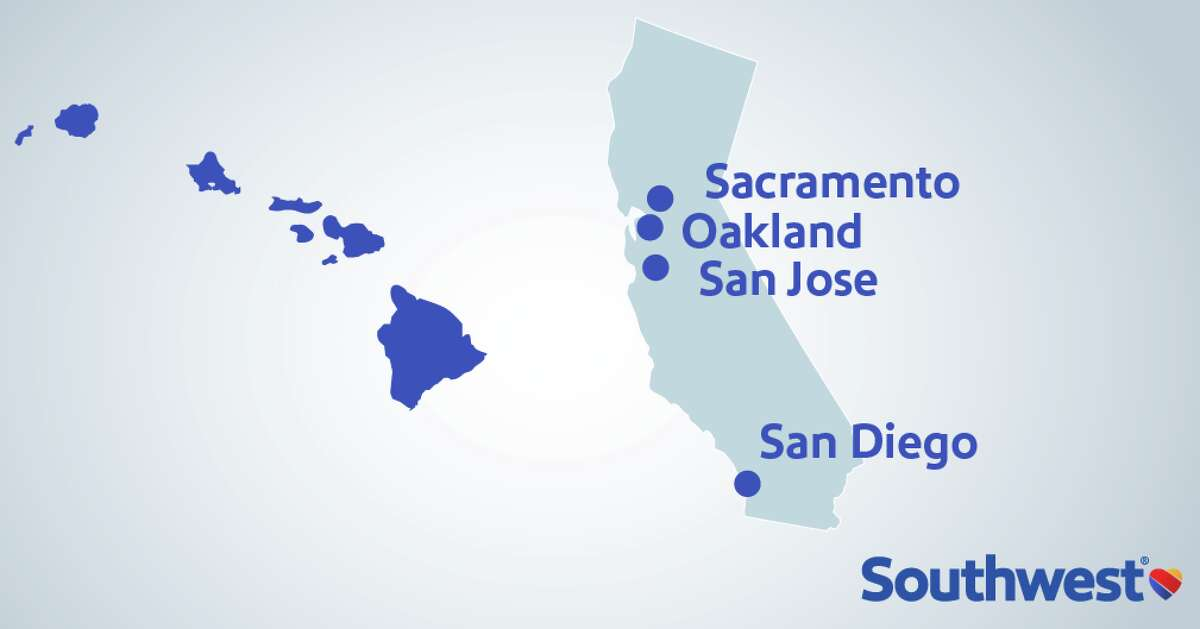 Today Southwest announced the four California cities from which it will fly to Hawaii