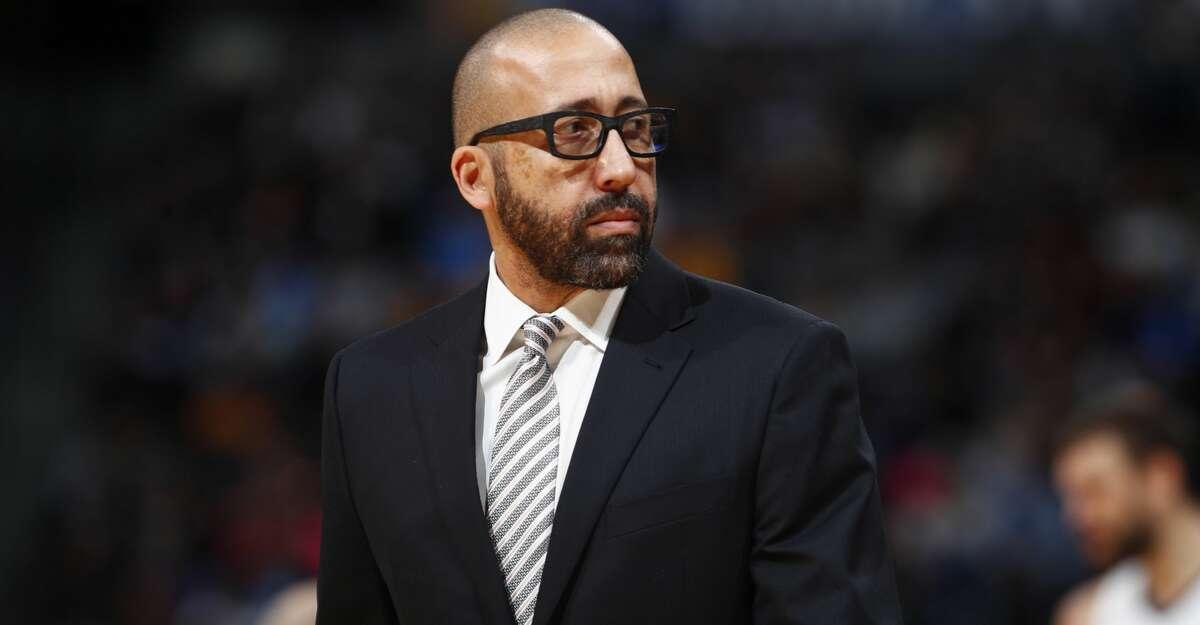 Memphis Grizzlies head coach David Fizdale in the second half of an NBA basketball game Friday, Nov. 24, 2017, in Denver. The Nuggets won 104-92. (AP Photo/David Zalubowski)