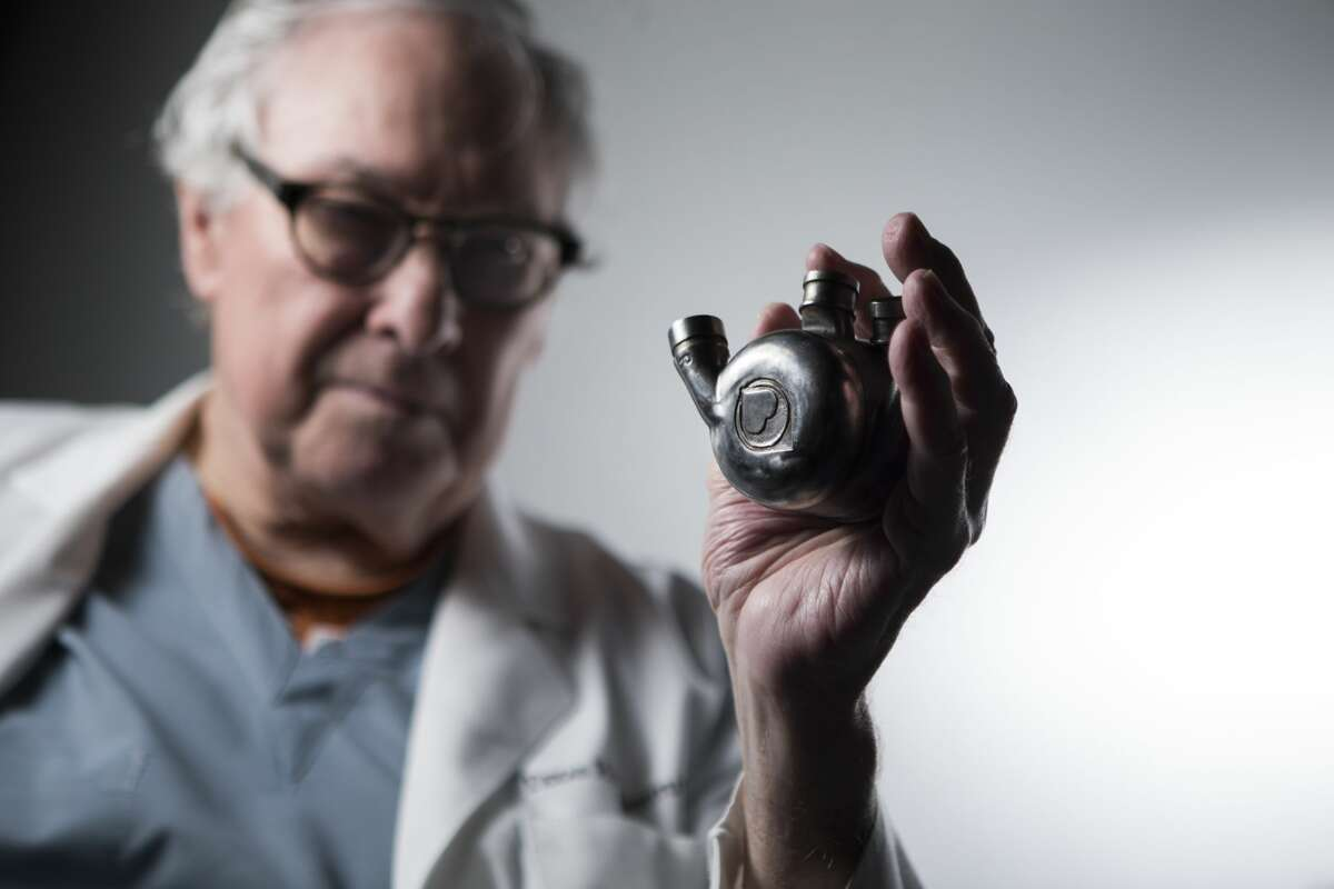 """O.H. """"Bud"""" Frazier has devoted his career to development of an artificial heart."""