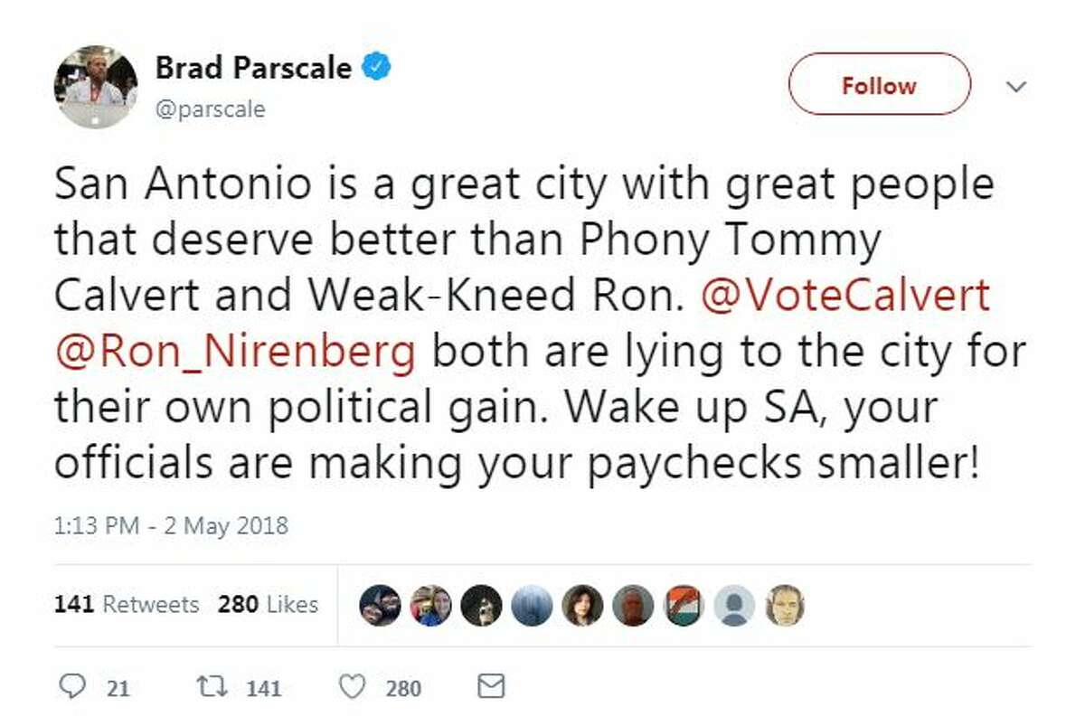 San Antonio is a great city with great people that deserve better than Phony Tommy Calvert and Weak-Kneed Ron. @VoteCalvert @Ron_Nirenberg both are lying to the city for their own political gain. Wake up SA, your officials are making your paychecks smaller!