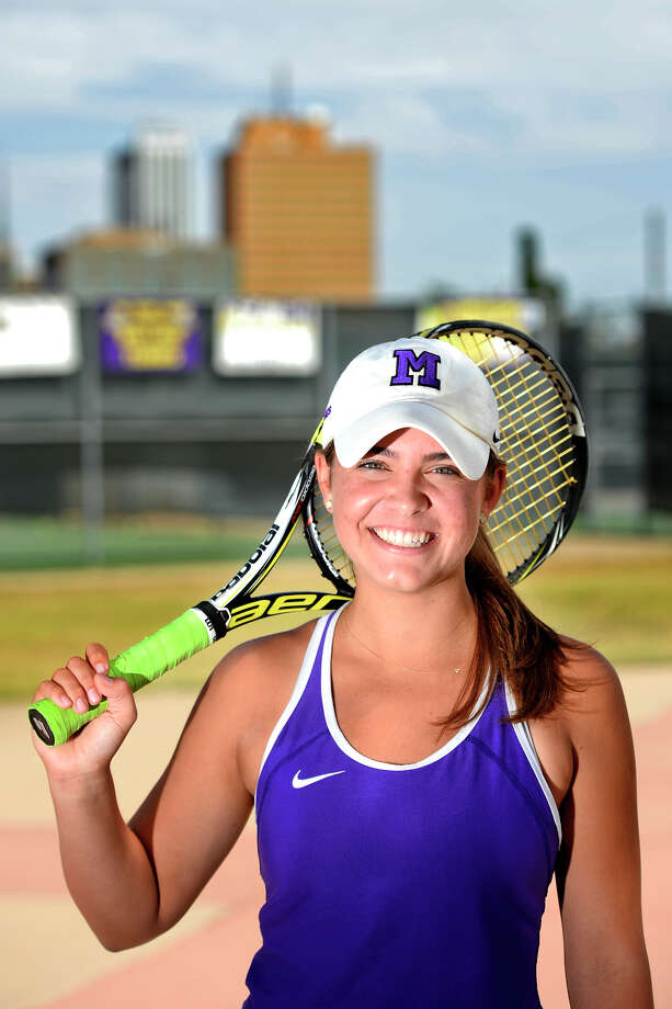 Midland High tennis athlete Allison Stewart photographed May 3, 2018, at Midland High.  James Durbin/Reporter-Telegram Photo: James Durbin