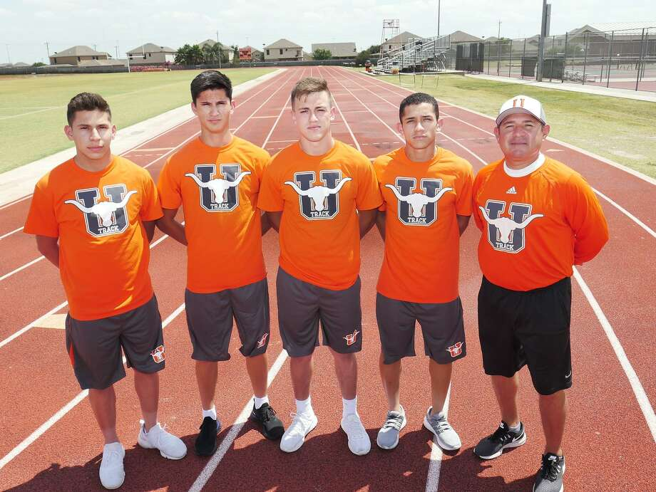 United's 4x100-meter relay team of Brandon Esparza, Ivan Alaniz, Dominic Castro and Alejandro Tirado became the first relay team from Laredo to earn a state berth since 1971. The Longhorns are coached by Jesse Esparza. Photo: Cuate Santos /Laredo Morning Times / Laredo Morning Times