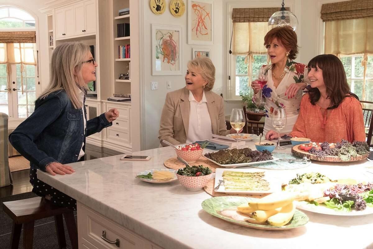 """(L-R) Diane Keaton, Candice Bergen, Jane Fonda, Mary Steenburgen in the film """"Book Club"""" by Paramount Pictures. Photo courtesy Paramount Pictures"""