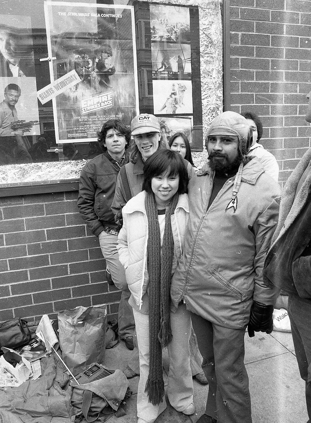 May 21, 1980: Fans wait in line for the first showing of