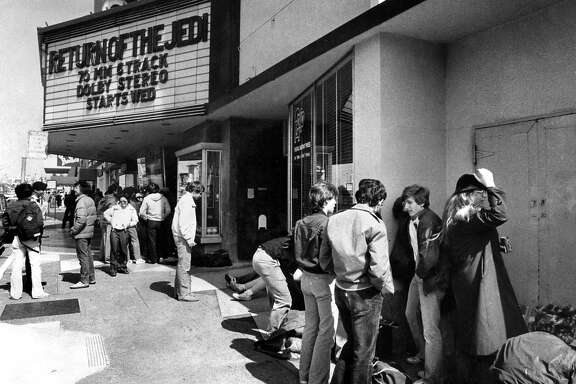 "CORONET THEATRE (May 15, 1983): This Geary Boulevard theater opened in 1949 and had stadium seating. It was a popular destination for ""Star Wars"" fans, who lined up days before the new movies."