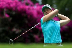 MEXICO CITY, MEXICO - MAY 06:  Annika Sorenstam of Sweden watches her shot on the sixth tee during the Hall of Fame Exhibition during the Citibanamex Lorena Ochoa Match Play Presented by Aeromexico and Delta at Club De Golf Mexico  on May 6, 2017 in Mexico City, Mexico.  (Photo by Sean M. Haffey/Getty Images)