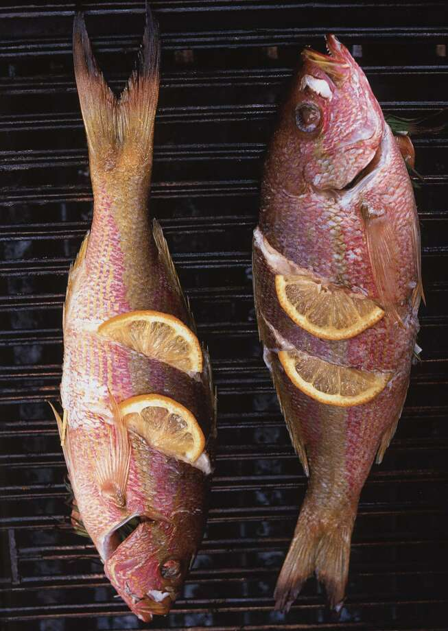 Grilling Red Snapper. Photo: CHRISTOPHER HIRSHEIMER