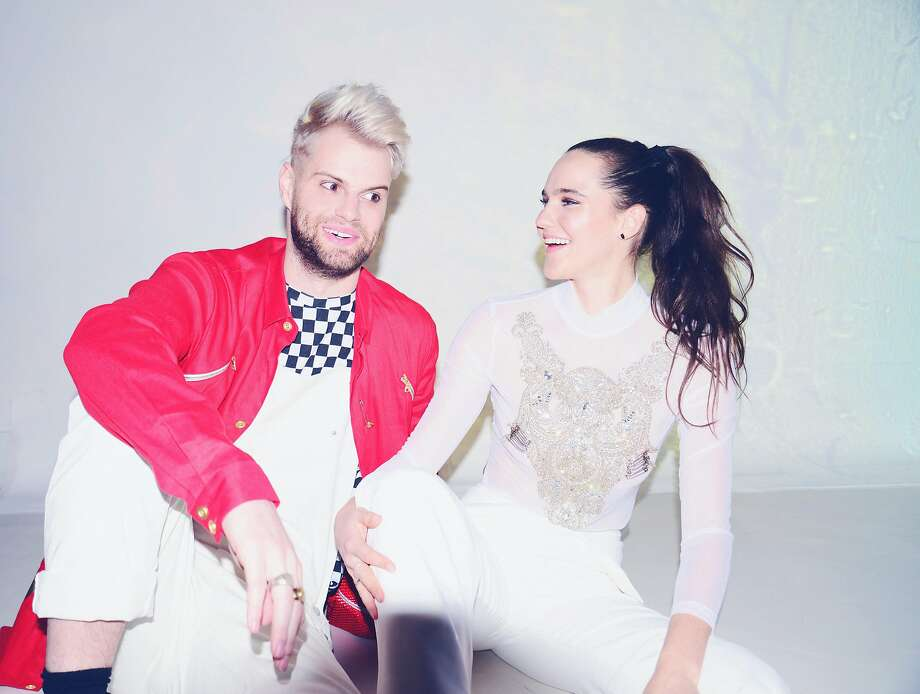 """Sofi Tukker — Tucker Halpern and Sophie Hawley-Weld — is known for the catchy single """"Best Friend"""" and is on a headlining tour after appearing at Coachella and Outside Lands last year. Photo: Shervin Lainez"""