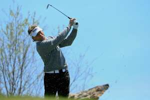 RIDGEDALE, MO - APRIL 20:  Bernhard Langer of Germany hits his tee shot on the ninth hole during the second round of the PGA TOUR Champions Bass Pro Shops Legends of Golf at Big Cedar Lodge held at Top of the Rock on April 20, 2018 in Ridgedale, Missouri.  (Photo by Michael Cohen/Getty Images)
