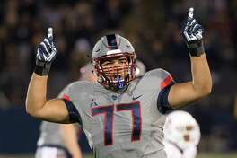 UConn offensive lineman Trey Rutherford was taken second overall in the CFL draft on Thursday night.
