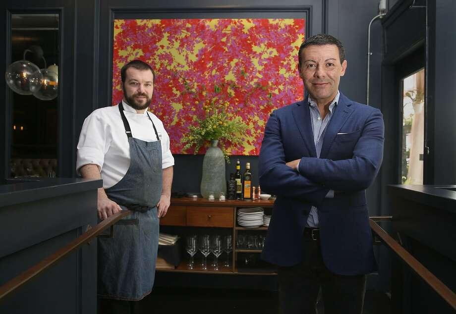 Chef Nick Kelly (left) and owner Claudio Villani at AltoVino. Photo: Liz Hafalia / The Chronicle