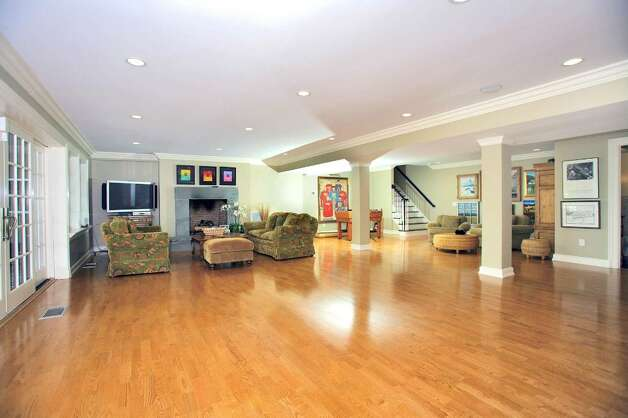 The homeowners use this space on the lower level as a dance floor. Photo: Contributed Photo / Darien News