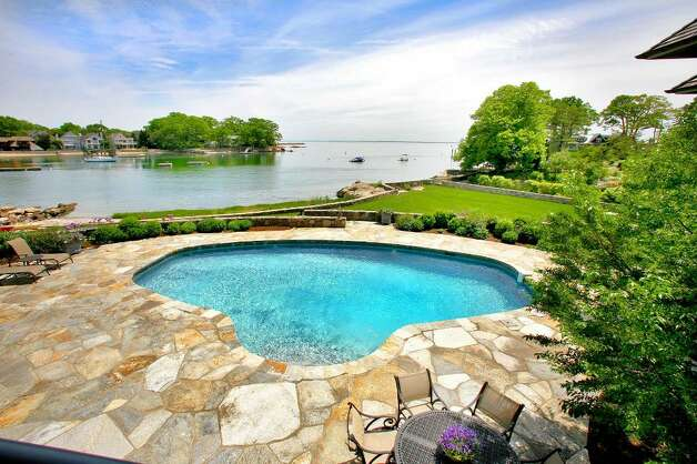 The house provides views of both Five Mile River and the Long Island Sound. Photo: Contributed Photo / Darien News