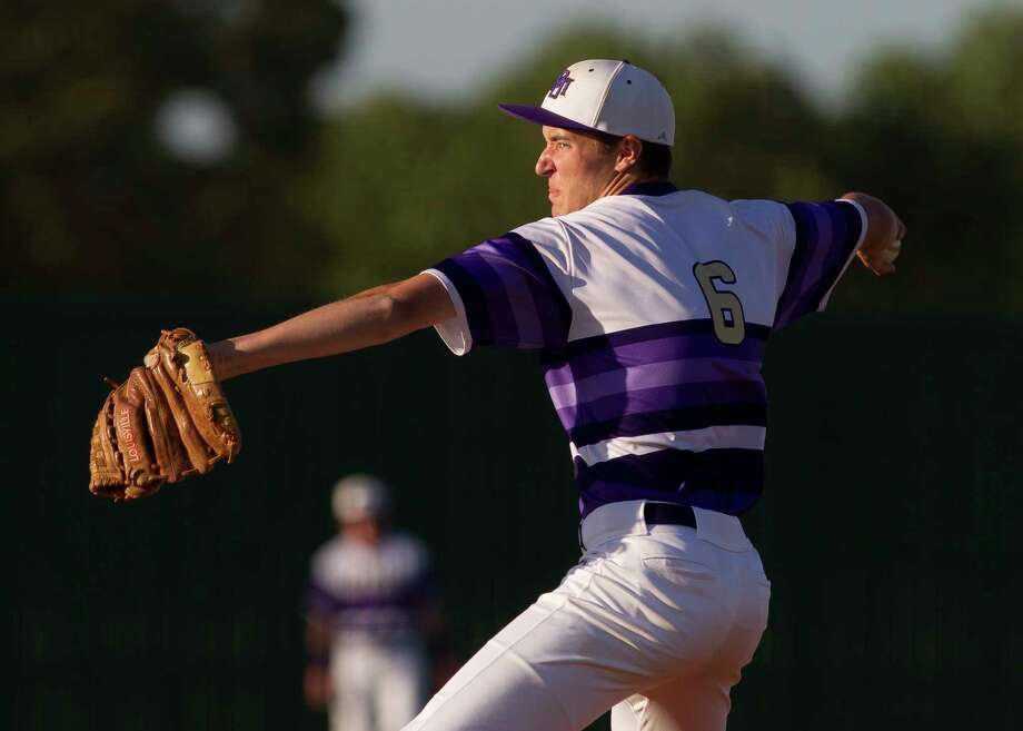 Montgomery stating pitcher Gavin Labruyere (6) throws during the first inning of a District 12-6A high school baseball game, Tuesday, April 17, 2018, in Montgomery. Photo: Jason Fochtman, Staff Photographer / © 2018 Houston Chronicle
