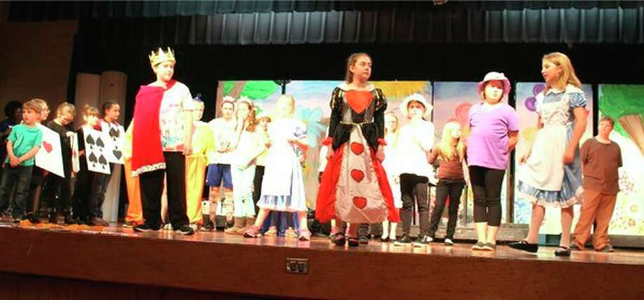 Roughly 50 Laker Elementary students will be taking the stage this weekend for the musical 'Alice in Wonderland.' The play, directed by Samantha Corrion, will be performed at 7:30 p.m. Friday and Saturday and 2 p.m. Sunday. Performances will be at the Laker High School auditorium. Tickets are $3 for students in grades kindergarten through 12th grade and $5 for adults. (Submitted Photo)