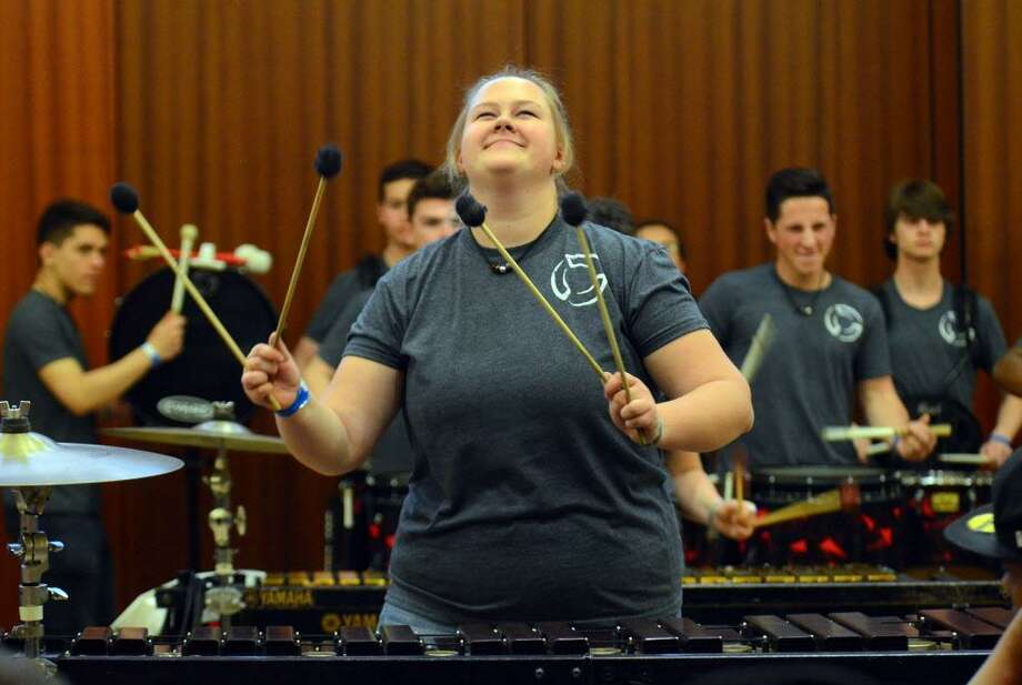 Magda Wiszniewska, with the Trumbull High School Percussion Ensemble, performs during the 2018 Day of Percussion at Sacred Heart University in Fairfield on April 28. The event, organized by the Percussive Arts Society Connecticut Chapter, featured performances by schools like Western Connecticut State University, as well as drumming and percussion clinics. Photo: Christian Abraham / Hearst Connecticut Media / Connecticut Post