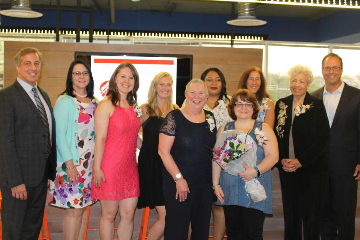 On Thursday, May 3 at its Norwalk office, the Hearst Connecticut Media Group honored the 10 recipients of its annual Salute To Nurses. Coinciding with National Nurses Week, nominations for the honorees are solicited each year through Hearst's Connecticut Newspapers, from which the top 10 are selected for recognition. Publisher Paul Barbetta presented each of the winners with a crystal award in recognition of their dedication and service to their profession and patients. Were you SEEN?