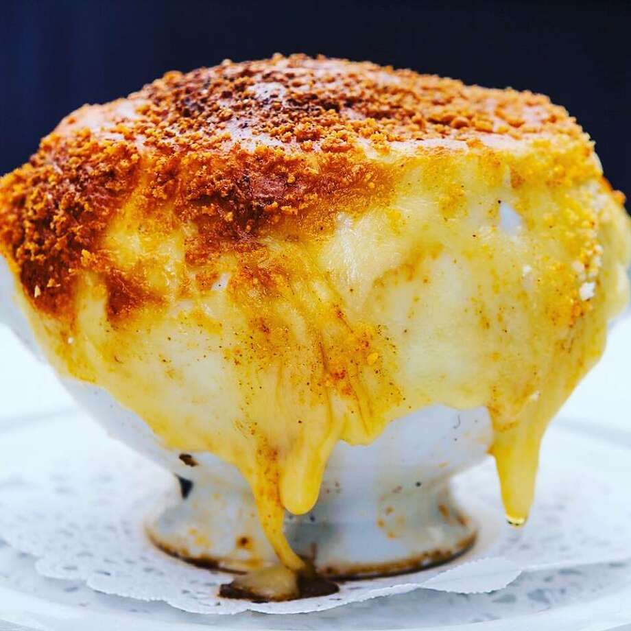 French onion soup at dp: An American Brasserie in Albany. (Provided photo.)