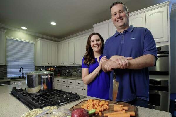 Anthony and Angela Hall of Humble are still feeding people homemade meals, like beef stew.