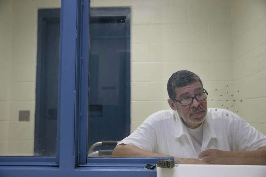 Keith Milo Cole meets with Houston Chronicle staffers on Wednesday, Feb. 21, 2018, at the LeBlanc Unit, where he was transferred in the wake of a judge's ruling that he needed to be housed in cooler living quarters to protect him from the heat. He has since been transferred back to the geriatric Pack Unit. Cole is one of more than a dozen inmates who attached their names to a class action lawsuit over unmitigated, life threatening heat in their prison. Cole later filed paperwork with the judge explaining instances of retaliation he said he had experienced in the wake of a tentative settlement agreement. Photo: Yi-Chin Lee / © 2018 Houston Chronicle