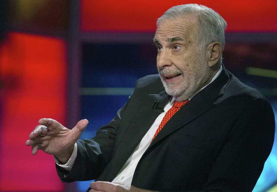Billionaire activist-investor Carl Icahn gives an interview on Fox Business Network in New York. Photo: File Photo / X90143