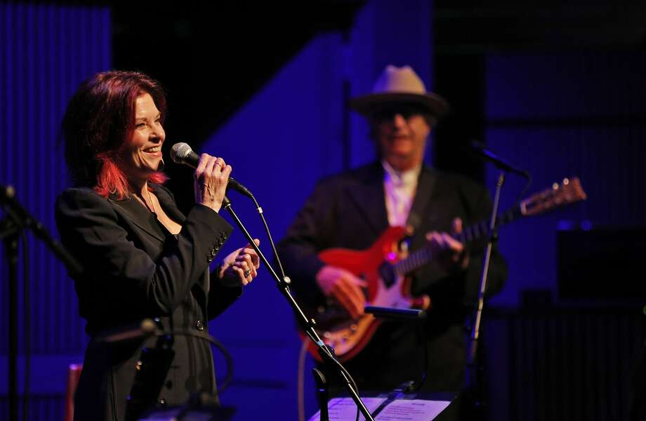 Rosanne Cash and Ry Cooder perform songs by her father, Johnny Cash, on Thursday, May 3, at the SFJazz Center. Photo: Photos By Carlos Avila Gonzalez / The Chronicle