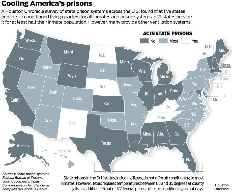 Map Of Texas Prisons.Air Conditioning Could Extend To Texas Inmates Statewide Following