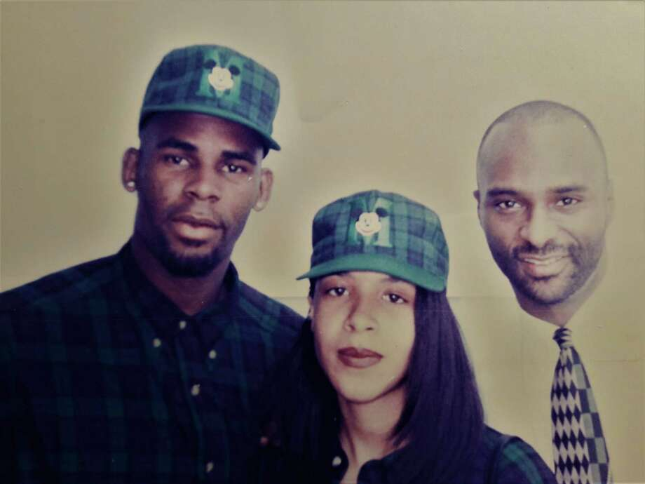 Singers R. Kelly and Aaliyah backstage in 1994 before Kelly and Aaliyah  appeared on BET 08ae8c58c