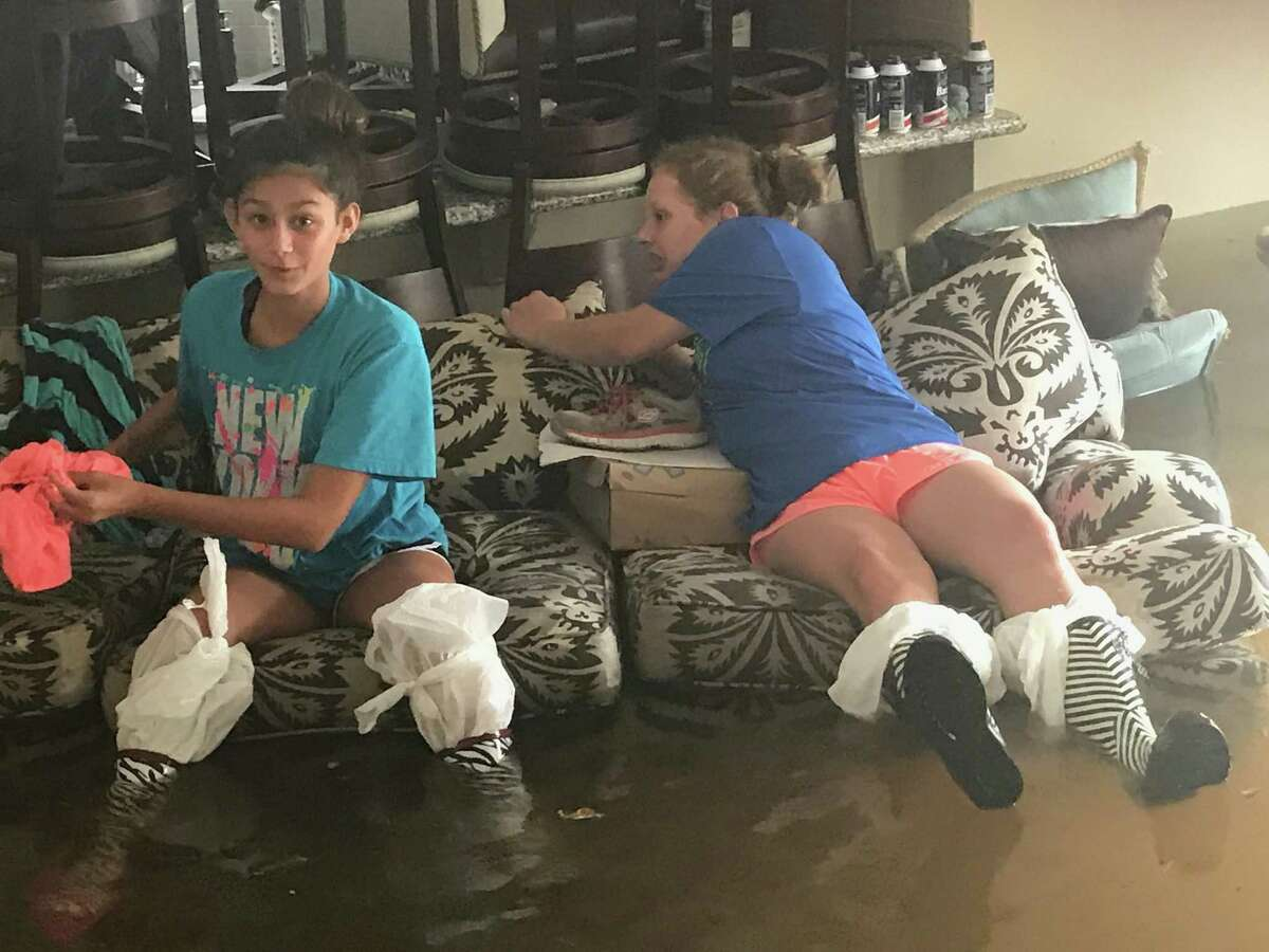 Angela Watts' Bellaire home took on 34 inches of water during Hurricane Harvey.