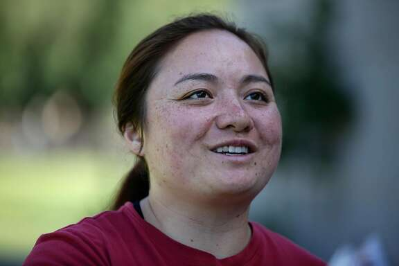 Stanfords goalkeeper Allie DaCar, 44, is photographed during interview before practice on Wednesday, May 2, 2018 at Stanford Field Hockey Camps in Stanford University, Stanford, California.