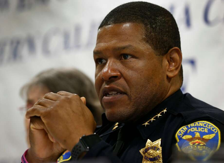San Francisco Police Chief Bill Scott — is he or isn't he interested in returning to Los Angeles as chief there. Photo: Paul Chinn / The Chronicle