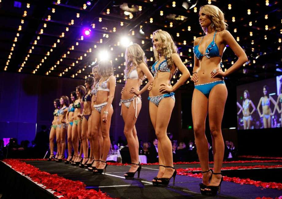 SYDNEY, AUSTRALIA - JUNE 17: The final 10 contestants parade the catwalk during the official crowning ceremony for Miss Universe Australia 2010 at the Sofitel Wentworth Hotel on June 17, 2010 in Sydney, Australia.  (Photo by Brendon Thorne/Getty Images) Photo: Brendon Thorne, Getty Images / 2010 Getty Images