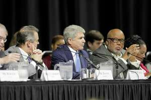 "U.S. Rep. Michael McCaul (R-Texas), Chairman of the House Committee on Homeland Security, leads a hearing, ""Houston Strong: Hurricane Harvey Lessons Learned and the Path Forward"" at Berry Hall on Monday, April 9, in Cypress."